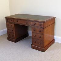 Mahogany Pedestal Desk c.1880 (4 of 6)