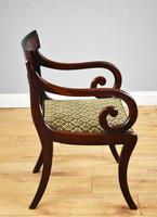 Set of 8 Antique Regency Style Mahogany Dining Chairs c.1900 (7 of 9)