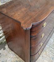 Regency Mahogany Bow Fronted Column Chest of Drawers (12 of 21)