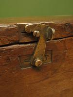 Antique Oak Chest, Early 19th Century Storage Chest for Weights, Lockable (18 of 21)