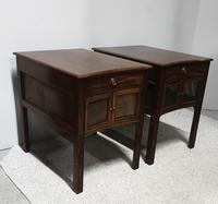 Very Good Pair of Mahogany Bedside Cabinets (12 of 13)
