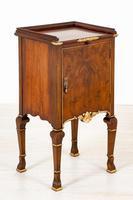 Walnut Queen Anne Style Bedside Cabinet c.1920 (11 of 14)