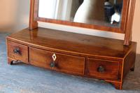 19th Century Inlaid Mahogany Dressing Table Mirror (8 of 23)