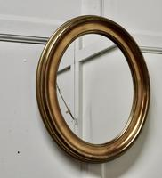 A Trio of French Oval Gilt-wood  Mirrors (6 of 6)