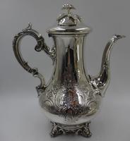 Antique Victorian Silver Tea Set London 1843 by Barnard Bros (3 of 11)