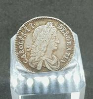 Rare Silver Charles II 1663 Shilling Good Condition (2 of 2)