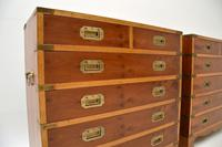 Pair of Yew Wood Military Campaign Style Chests (8 of 14)