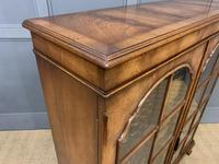 Good Burr Walnut Glazed 2 Door Bookcase (12 of 15)