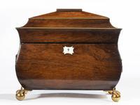 George III Period Mahogany Bombay Caddy (5 of 6)