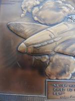 Bronzed Metal Calendar Signed Alex Henshaw MBE 1941 (7 of 13)