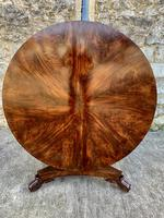 Exceptional Quality Regency Flame Mahogany Centre Table (2 of 10)