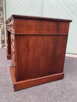 Antique Walnut Pedestal Writing Desk (5 of 13)
