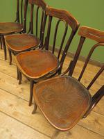 Four Antique Polish Thonet Style Bentwood Bistro Chairs with Pressed Seats (18 of 22)