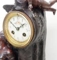Art Nouveau Figural Mantel Clock Set 8 Day (9 of 11)