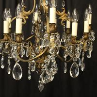 French Bronze 12 Light Antique Chandelier (3 of 10)