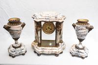 Antique French Gilt Clock Set Garniture Urns with Atlas Figures (2 of 9)