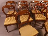 Set of 10 Victorian Mahogany Balloon Back Dining Chairs (10 of 12)