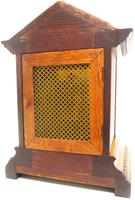 Superb Antique German Oak 8-Day Mantel Clock Quarter Striking Bracket Clock by Junghans (4 of 8)