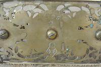 Fine William Tonks & Sons Brass Inkwell Registered Diamond for 1883 Double Inkstand (3 of 10)