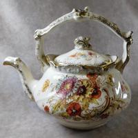 "19th Century S. Fielding & Co ""Sevres"" Pattern Kettle Shaped Teapot"