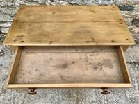 Antique Pine Side Table with Drawer (10 of 14)
