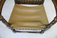 Oak & Leather Carver Chair (6 of 12)