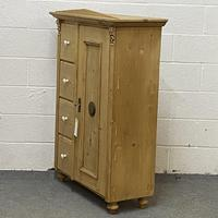 Antique Pine Bread Cupboard with Deep Drawers (2 of 6)
