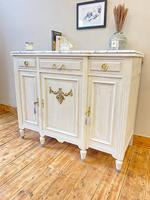 French Oak Sideboard / Buffet / Cupboard Topped in Statuario Marble (6 of 10)