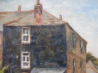 Oil on Canvas Cornish Harbour View Listed Artist Dora Johns 1966 (4 of 10)
