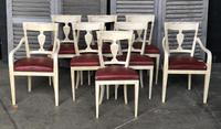 Set of 8 French Directoire Dining Chairs