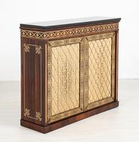 Amazing Rosewood and brass inlaid side cabinet (5 of 9)