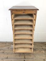 Antique Oak Tambour Filing Cabinet (5 of 9)
