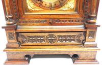Superb Antique Solid Walnut 8-day Mantel Clock Ting Tang Striking Bracket Clock by W&H (6 of 12)