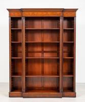 Mahogany Inlaid Open Breakfront Bookcase (2 of 5)