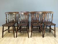 Harlequin or Near Matched Set of 8 Kitchen Chairs (2 of 7)