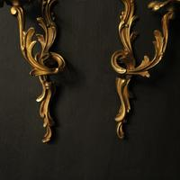 French Pair of Gilded Antique Wall Lights (9 of 10)