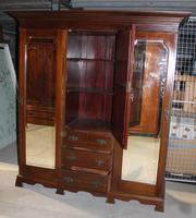 Large Art Nouveaux Mahogany Compactum Wardrobe (2 of 6)