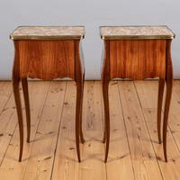 Pair of French Walnut & Kingwood Bedside Cabinets (4 of 8)