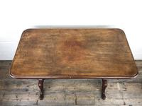 Victorian Mahogany Occasional Table with Stretcher (4 of 10)