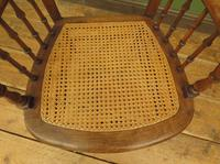 Unusual Antique Bentwood Chair with Caned Seat & Back (6 of 17)