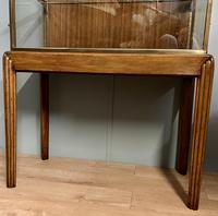 Brass Glazed Shop Display Cabinet on Wooden Stand with Drawer (2 of 13)