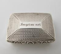George IV silver vinaigrette 'Forget me not' John Bettridge Birmingham 1829 (2 of 11)