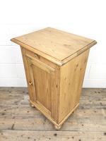 Antique Pine Bedside Cupboard (6 of 8)