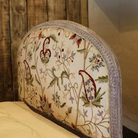 Upholstered Antique Bed with Painted Frame (4 of 8)