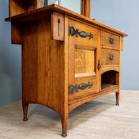 Arts & Crafts Mirror Backed Sideboard (4 of 14)