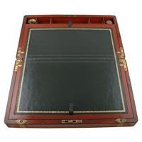 Campaign Style Mahogany Box Desk (4 of 9)