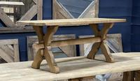 Rustic French Bleached Oak Coffee Table (2 of 20)