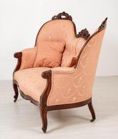Elegant Victorian Mahogany Settee (6 of 9)