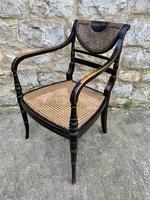 Single English Regency Painted Armchair (3 of 6)