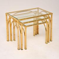 Vintage Brass Faux Bamboo Nest of Tables (5 of 9)